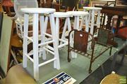 Sale 8440 - Lot 1097 - Timber Bar Stools x 4