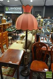 Sale 8515 - Lot 1052 - Timber Standard Lamp