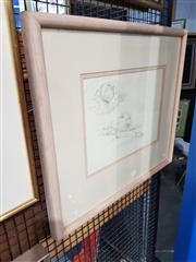 Sale 8699 - Lot 2047 - Francis Giacco - Boy Sleeping 1983, pencil, 53.5 x 61cm (frame size), signed and dated lower right