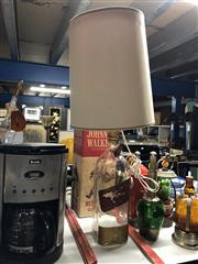 Sale 8802 - Lot 23 - A Johnnie Walker red label magnum bottle converted to lamp with original box