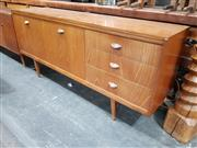 Sale 8908 - Lot 1062 - Quality White and Newton Teak Sideboard