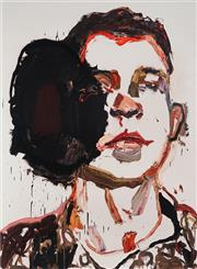 Sale 8984A - Lot 5036 - Ben Quilty (1973 - ) - Trooper Luke Korman, Tarin Kowt 90 x 66 cm (frame: 119 x 91 x 3 cm)