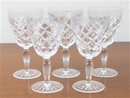 Sale 9140H - Lot 63 - A set of five crystal stemwares, Height 13cm