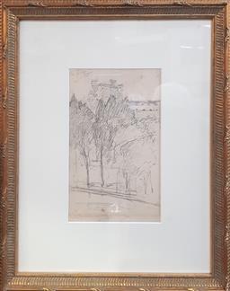 Sale 9155 - Lot 2010 - A Gother Fyers Mann sketch (40cm x 32cm)