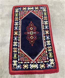 Sale 9154 - Lot 1023 - Multi-coloured woollen Rug with repeating geometric design (172 x 100cm)