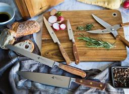 Sale 9211L - Lot 46 - Laguiole by Louis Thiers - 8 Piece Séquoia Knife Block Set - Rosewood