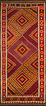 Sale 8307A - Lot 25 - Old Persian Kilim 408cm x 172cm RRP $1000