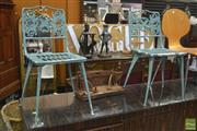 Sale 8310 - Lot 1618 - Pair of Metal Outdoor Chairs