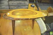 Sale 8371 - Lot 1036 - Organic Retro Side Table Marked With The Fiji Islands