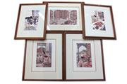 Sale 8429A - Lot 2073 - Karel Burrow Framed Engravings (5)