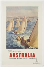 Sale 8738 - Lot 568 - James Northfield (1887 - 1973) - Sailing Sydney Harbour, N.S.W 100.5 x 63.5cm (sheet size: 107.5 x 71.5cm)