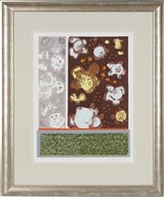Sale 8767 - Lot 2072 - Vi Collings - Lichen , 1976 49.5 x 38cm