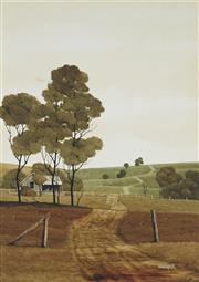 Sale 8867A - Lot 5074 - Michael Taylor (1939-) - Farmlands Near Cudal (1978) 34.5 x 24.5 cm