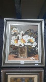Sale 8433 - Lot 2031 - Thelma MacKenzie, Still Life, oil on board, 29 x 24cm, signed lower left