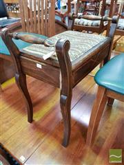 Sale 8480 - Lot 1076 - Edwardian Piano Stool