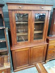 Sale 8814 - Lot 1065 - 19th Century Mahogany Assembled Bookcase, the two glass panel door top probably French, with two doors below & plinth base