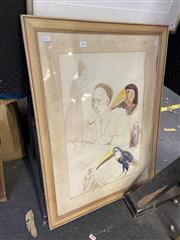 Sale 8870 - Lot 2098 - Salvatore Zofrea (1946 - ) Studies ink and wash, 55.5 x 36.5cm, unsigned -
