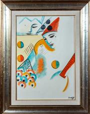 Sale 8882H - Lot 99 - Sumigli? Italian XX - A clown Abstract SLR, Inscription / certification to back