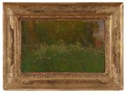 Sale 8934H - Lot 90 - Charles Conder, A Summer Glade, c1893, oil on academy board, 21cm x 34cm. Provenance: Carfax Gallery, London; Leonard Joel, Melbourn...