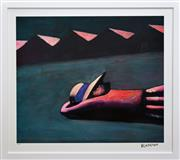 Sale 8297 - Lot 563 - Charles Blackman (1928 - ) - The Fallen School Girl 66 x 76.5cm