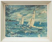Sale 8375A - Lot 35 - Stodulka - Yachts 16 x 20.5 cm