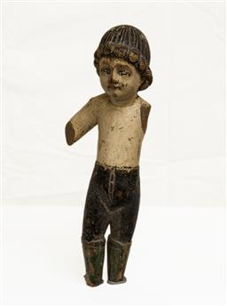 Sale 8439A - Lot 91 - A C19th Santos figure, H 29cm