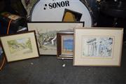 Sale 8419T - Lot 2040 - Framed Artworks (4) incl Clanwilliam