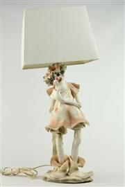 Sale 8456 - Lot 58 - Italian Designer Female Clown Figural Lamp