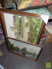 Sale 8474 - Lot 2078 - 2 Framed Tapestries