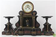 Sale 8555 - Lot 2 - 19th Century French Marble Clock Garniture By C.Detouche