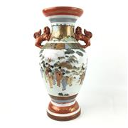 Sale 8545N - Lot 120 - Kutani Two Handled Vase (H: 35.5cm)