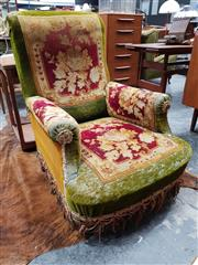 Sale 8741 - Lot 1072 - Art Deco Deconstructed Armchair with Floral Themes