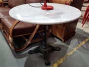 Sale 8740 - Lot 1100 - Marble Top Table with Cast Iron Base
