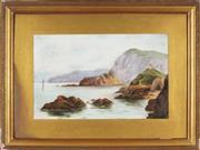 Sale 8838A - Lot 5197 - Artist Unknown (Early C20th) - Coastal Scene, 1919 30.5 x 48.5cm