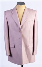 Sale 8926H - Lot 18 - A BASLER blazer with chevron stripe design in mauve, size 40