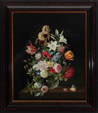 Sale 8934H - Lot 86 - Paul Jones, Still Life with Shells, oil on board, 67cm x 56cm in an ebonised and tortoise shell frame   Provenance, given by James...