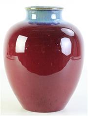 Sale 8989 - Lot 62 - Flambé plum vase with attractive tones (H26cm,)