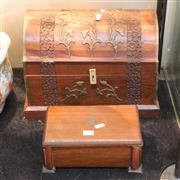 Sale 8351 - Lot 88 - Metal Bound Timber Chest with Another Box