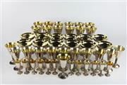 Sale 8396C - Lot 41 - Spanish Silver Plated Drinks Suite with a Gilt Wash Interior