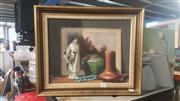 Sale 8433 - Lot 2059 - Thelma MacKenzie, Still Life, oil on board, 29 x 37cm, signed lower left