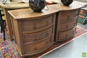 Sale 8480 - Lot 1142 - Pair of Bow Front Bedside Chests