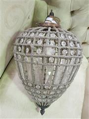 Sale 8672 - Lot 1075 - Brass Basket Form Light Fitting