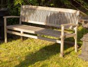 Sale 8795A - Lot 24 - A teak bench, L 180cm