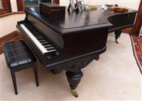 Sale 8934H - Lot 81 - A late  C19th rosewood later ebonised Bluthner grand piano, serial no 19742, seven octaves, Length approx. 270cm x Width 160cm  ci...