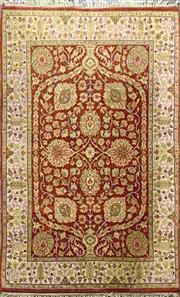 Sale 8934 - Lot 1053 - Maroon & Cream Tone Carpet (250 x 156cm)
