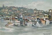 Sale 8947 - Lot 584 - Cedric Emanuel (1906 - 1995) - Middle Harbour at the Spit, Sydney 35 x 49 cm (frame: 51 x 63 x 3 cm)