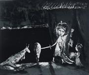 Sale 8976A - Lot 5007 - Garry Shead (1942 - ) - Night Knighthoods 30.5 x 37.5 cm (frame: 60 x 63 x 4 cm)