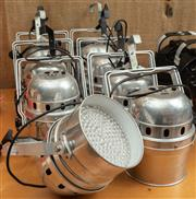 Sale 8984M - Lot 4 - A selection of eight metal stage lights on adjustable chrome brackets by light emotion.