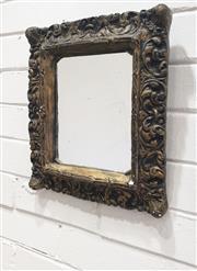Sale 9080 - Lot 1083 - Ornate Carved Gilt Framed Mirror (36 x 31cm)