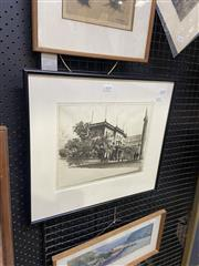 Sale 9087 - Lot 2086 - E. Warner The Union Club lithograph ed. 42/100, frame: 43 x 48 cm, signed lower right -